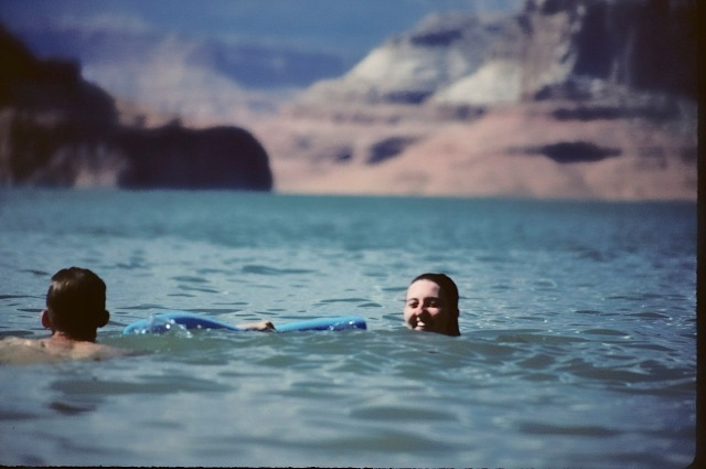83.019     8-8-95     Lake Powell, UT-AZ., Holly and Steve swimming