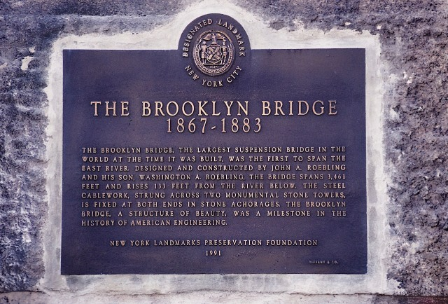 80.082            3-27-95     Brooklyn Bridge Plaque